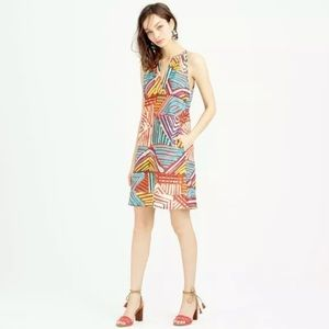 J. CREW COLLECTION Geo Brushstroke Dress Size 4